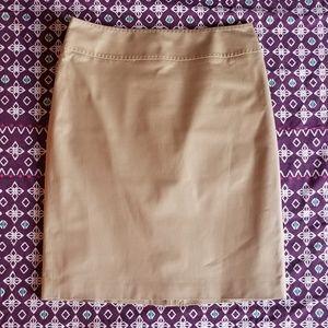 Brooks Brothers Chino Pencil Skirt 8P EUC